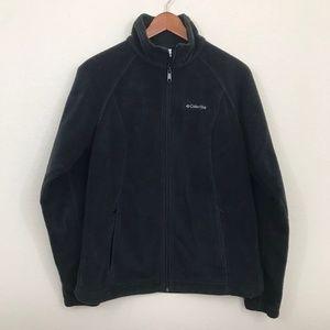 Womens Large L Columbia Fleece Full Zip Up Jacket